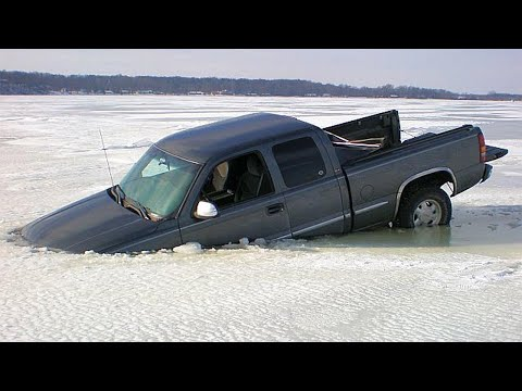Cars Falling Through Ice Compilation