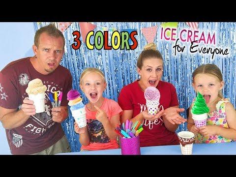 3 Marker Challenge!!! Coloring Ice Cream Cones!