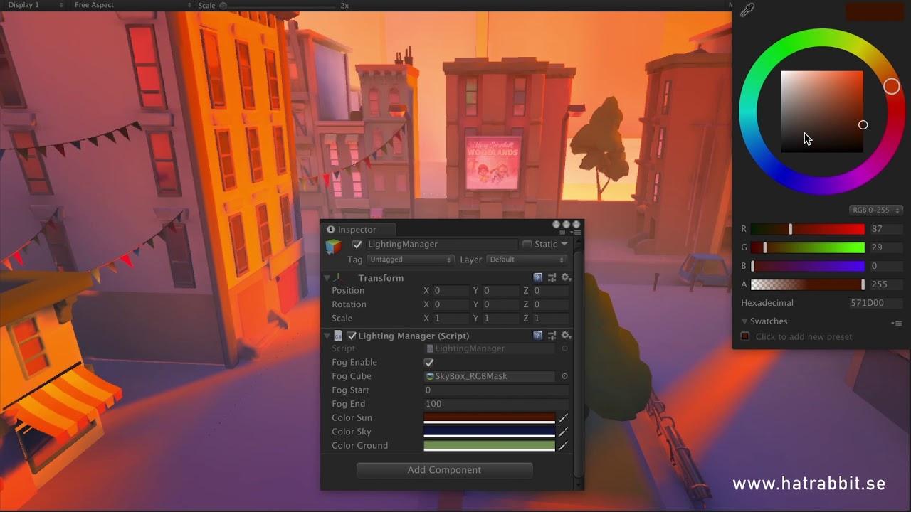 Dynamic Lighting using RGB lightmap masks in Unity
