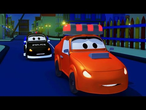 Thumbnail: The Car Patrol: fire truck and police car 🚓 in Amber's siren is stolen in Car City 🚒 Trucks Cartoons