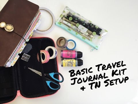 Traveler's Notebook Travel Set Up And Travel Journal Kit