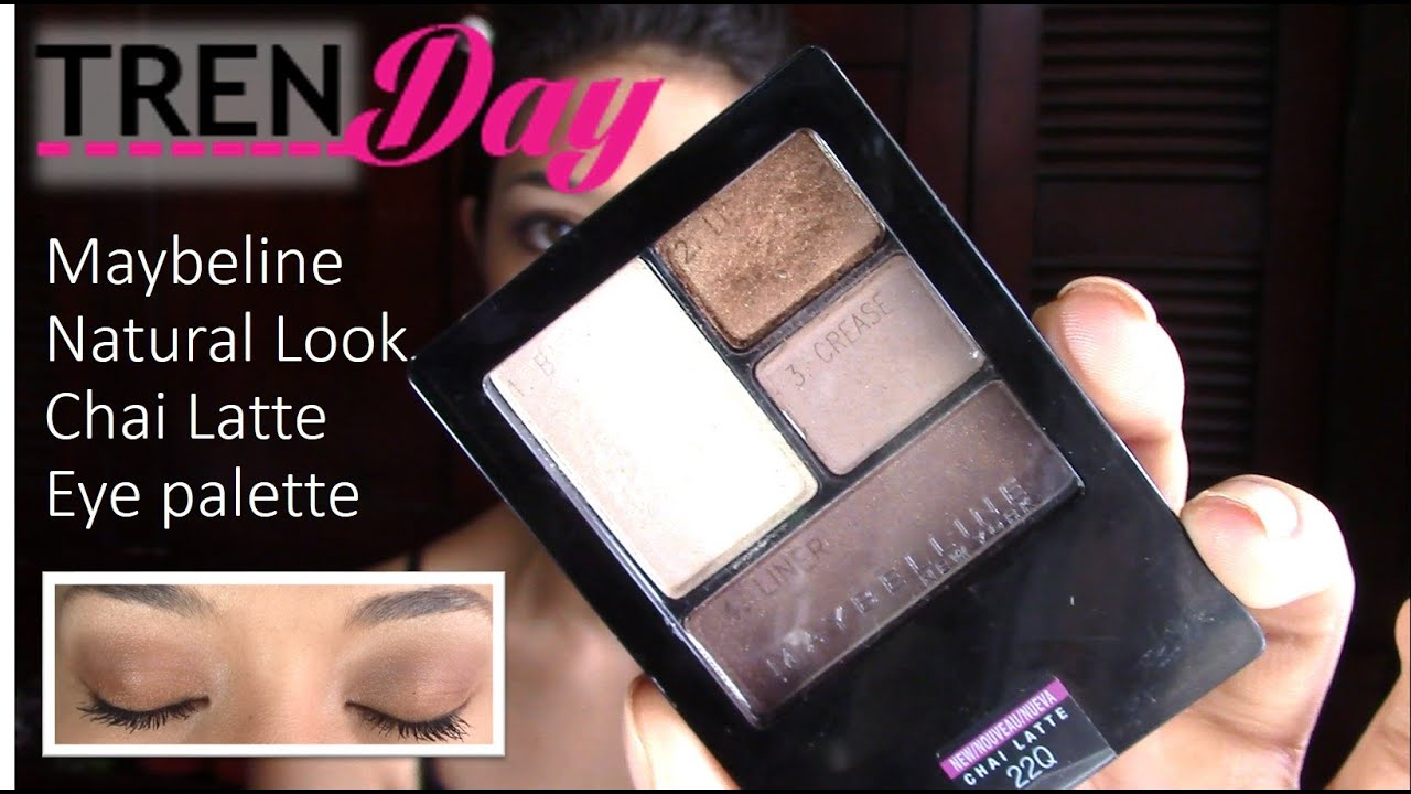 MAYBELLINE natural look using Chai Latte eye palette & Falsies ...