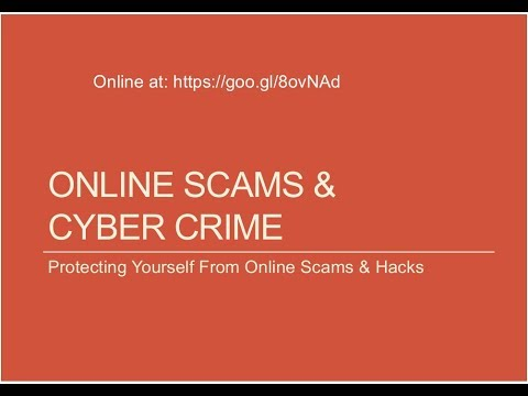 Belmont Public Library: Cyber Crime and Online Safety