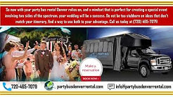 Planning a Magical Wedding with Party bus rental Denver