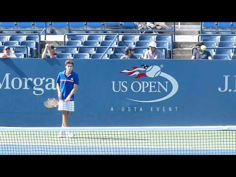 Gilles Simon practice at Us OPen