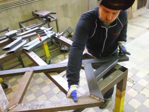 DIY CNC steel router build part 1, side structures.