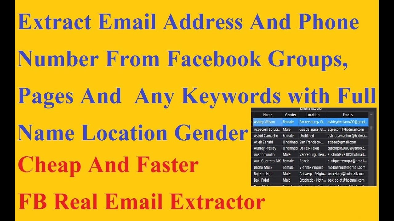 Find Email Address And Phone Number From Facebook Groups Pages |Best  Facebook Email Address Scraper