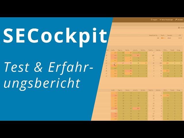 SECockpit Testbericht und Erfahrungsbericht ? Keyword Tool und Ranktracker für SEO