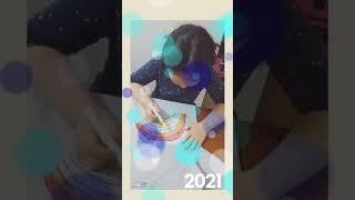 초1학년손녀마카펜으로 티셔츠그림그리기