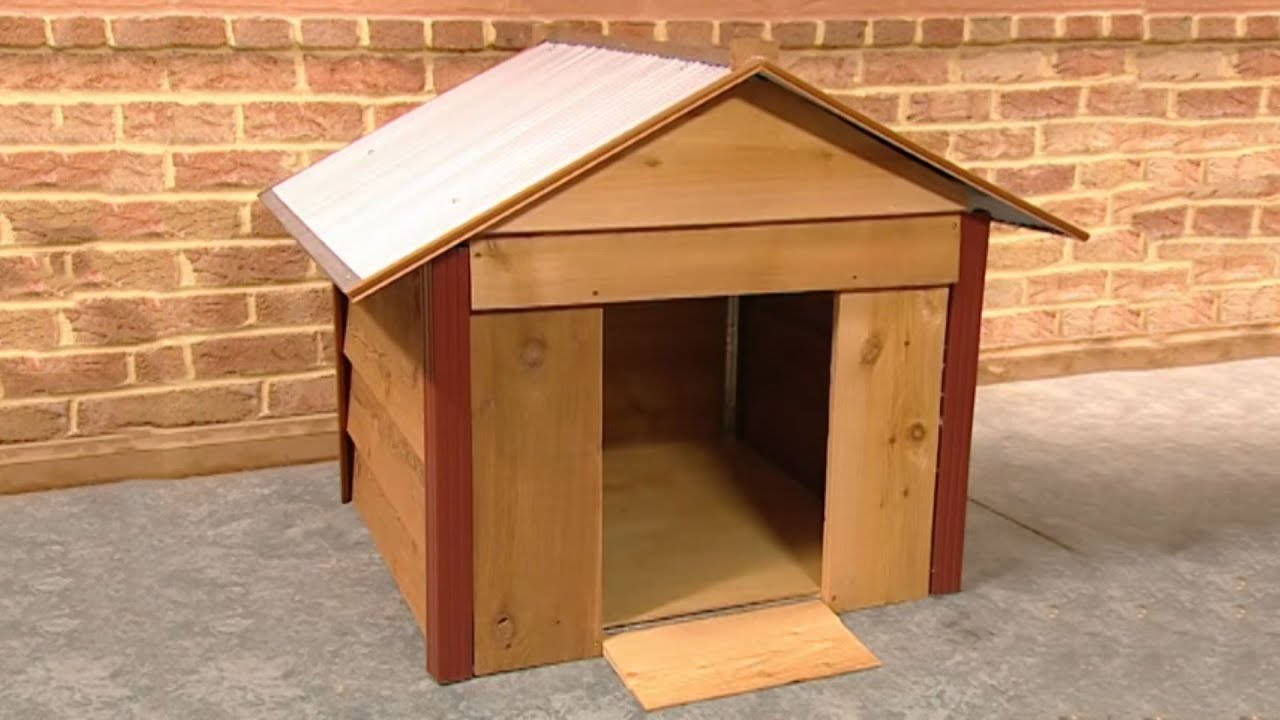 how to build a dog kennel youtube