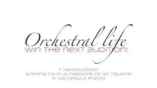 "F  Mendelssohn   Sinfonia n  4 ""Italiana""  - IV. Saltarello  Presto"