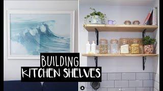 MOVING VLOG - part three | Building kitchen shelves + organising my wardrobe