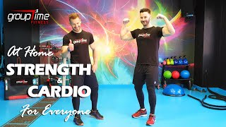 Week 1 | Strength & Cardio Bodyweight Workout for Everyone | GroupTime Fitness
