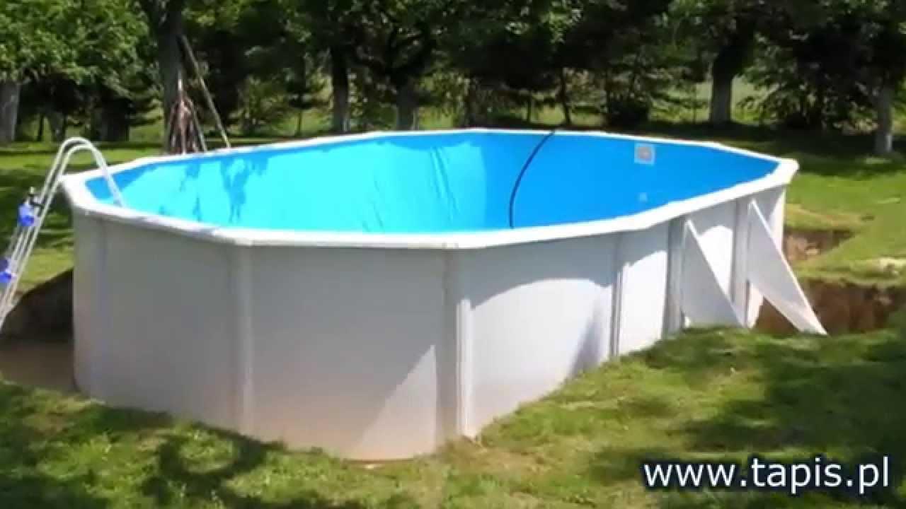 tapis pl baseny ogrodowe baseny naziemne basen ogrodowy baseny tapis monta realizacje youtube. Black Bedroom Furniture Sets. Home Design Ideas