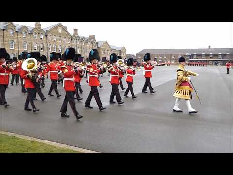 Band of the Irish Guards Pipes and Drums March 2018
