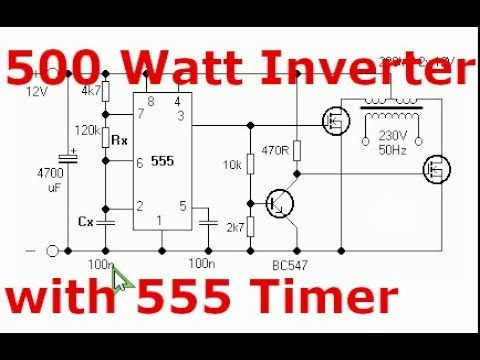 500W Inverter with 555 Timer and IRF3205 MOSFET 12 230V - YouTubeYouTube