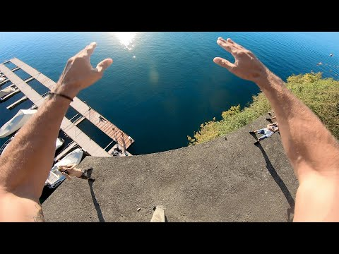 CRAZY CLIFF JUMPING OFF ABANDONED HOTEL & 100ft+ BRIDGE!