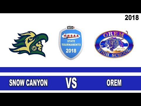 4A Girls Soccer: Orem vs Snow Canyon High School UHSAA 2018 State Tournament Championship