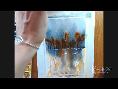 Experiments in Watercolour: Brusho Landscape