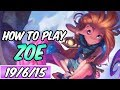 HOW TO PLAY ZOE | Build & Runes | 74k DMG | Diamond Commentary | Champion Guide | S9