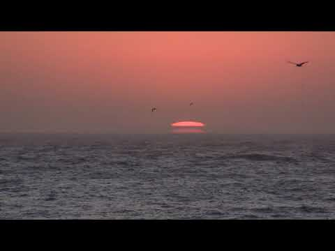 Observing A Gorgeous Sunset Over The Pacific From Moss Landing, CA (10-8-2017) Video Clip #4