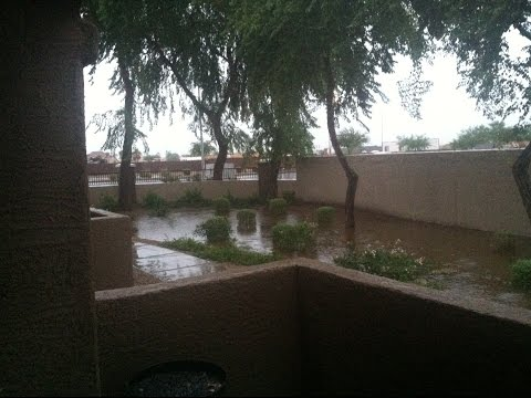 Monsoon Flooding Chandler Arizona 2014