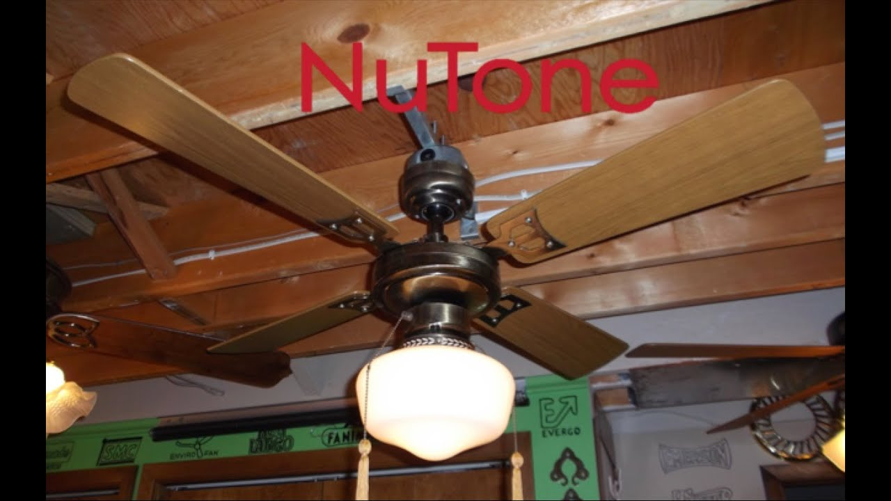 Nutone slimline ceiling fan youtube nutone slimline ceiling fan aloadofball Images