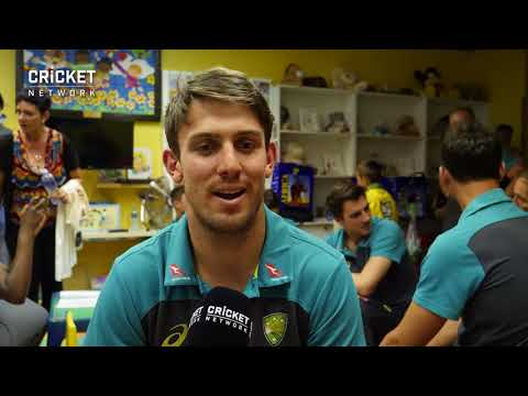 Mitch Marsh - Australian cricketers visit patients at the Smile Foundation