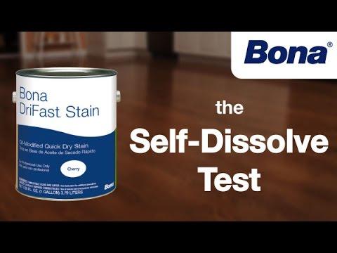 The Bona Drifast Stain Self Dissolve Test