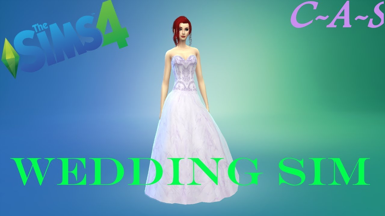 Sims 4 =Wedding Dress Girl= (C-A-S/Create A Sim) - YouTube