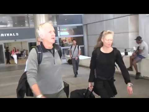 James Cameron Arrives In L.A. With Wife Suzy After Celebrating 'Aliens' 30th Anniversary