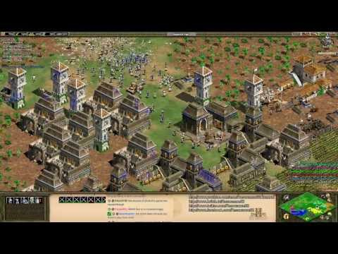 Aoe2 HD: 4v4 Black Forest (Aztecs, Eagle Warrior Rush) (Part 2/2)