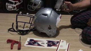 Football Helmet collection Riddell Speed Montreal Alouettes assembly Pt 1 88ddee30a