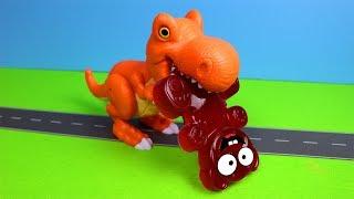 Lucky Bär der Dinosaurier und das Spiel Yeti Spaghetti