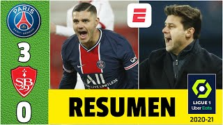 PSG 3-0 Brest. Gol de Icardi y asistencia de Mbappé dan la primera victoria a Pochettino | Ligue 1