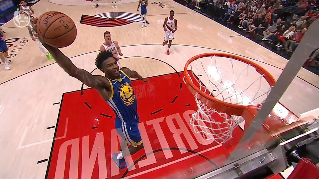 Jordan Bell Blows the Dunk - Shaqtin' A Fool - Game 3 | Warriors vs Blazers | 2019 NBA Playoffs image
