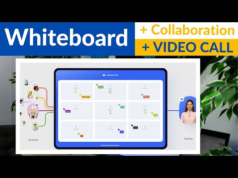 Amazing Whiteboard for online Lessons with Built in Video