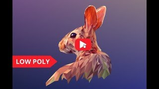 rabbit low poly