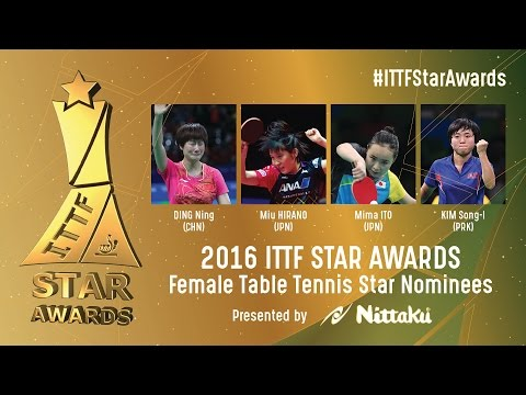 Who will be the 2016 Female Table Tennis Star?