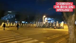 현장생방송#추미애근조화환현재상황,430개1인시위,과천정…