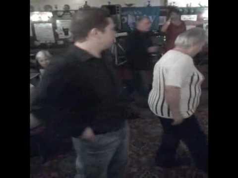Marky D doing his Irish dancing at the Royal oak pub in Northumberland heath.