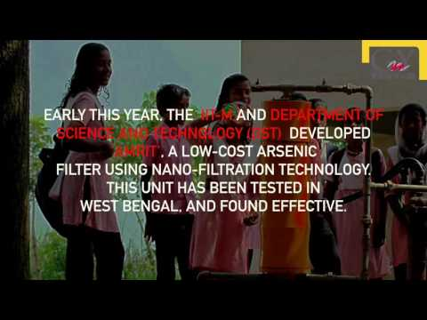 Geography and You: Amrit, Department of Science and Technology's arsenic free solution