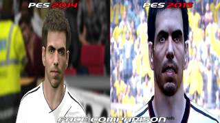 PES 2015 Vs PES 2014 Face Comparison HD  nitendo wii u