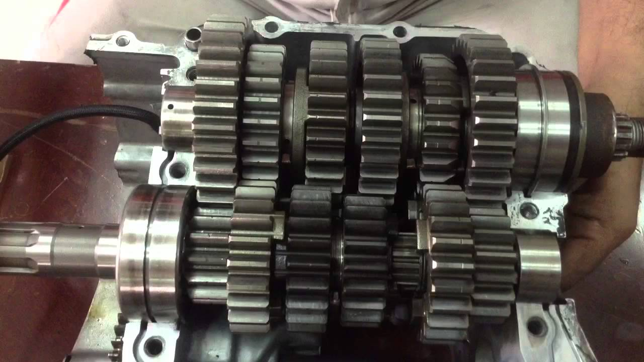 hight resolution of motorcycle six speed gearbox