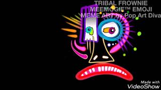 TRIBAL FROWNIE MEEMOGIE™ EMOJI MEME ART by Pop Art Diva