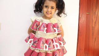 لولو صنعت فستان جديد للحفله افكارDIYرائعه❤️