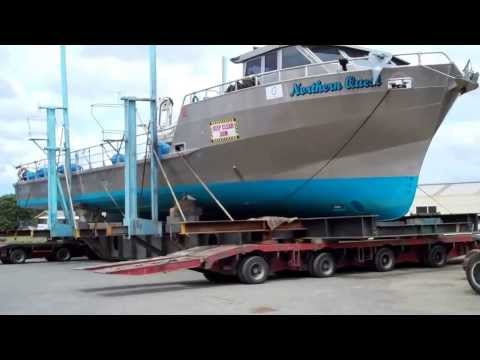 Oceania Marine Side-shifting 30M Vessel at North Shipyard Port Whangarei