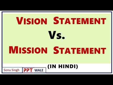 MISSION VS. VISION IN HINDI | Strategic Management (SM) | Concept | Difference | BBA/MBA | Ppt
