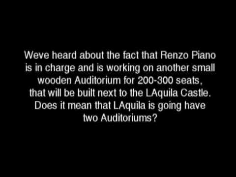 Shigeru Ban interview about L'Aquila Auditorium part 2/2