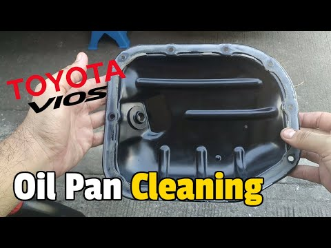 TOYOTA VIOS OIL PAN | OIL STRAINER Cleaning and Checking | How To Clean Oil Pan
